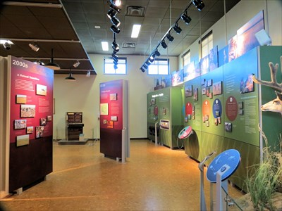Exhibits in the Visitor Center explore the history of the chemical weapons and cleanup