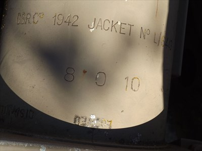 Close-up of the details stamped on the barrel. 1040, Friday, 13 May, 2016