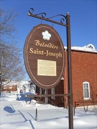 Plaque annonce Belvédère de St-Joseph du Lac