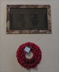 Image for Great War Memorial - St Mary the Virgin Church - Pembroke, Pembrokeshire, Wales.