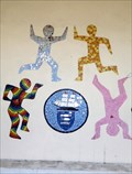 Image for Running & Jumping Children - Mural - New Quay, Ceredigion, Wales.