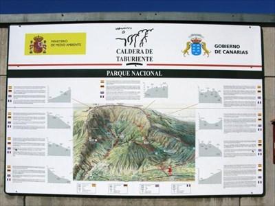 Map over the Caldera de Taburiente