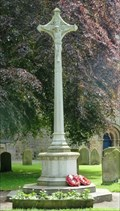 Image for War Memorial, St Mary's Churchyard, Masham, N Yorks, UK