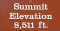 Image for Calif. Hwy. 89 - Summit Elevation 8511