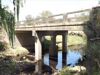 Side view of the concrete bridge over Scotters Creek.1029, Sunday, 27 November, 2016