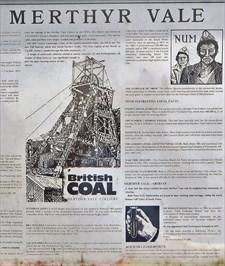 Merthyr Vale - Historical Marker