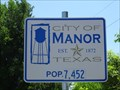 Image for Manor, TX - Population 7,452