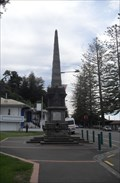 Image for Memorial Obelisk, Marine Parade, Napier, Hawke's Bay, New Zealand.