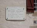 Image for plaque Benjamin Franklin - Auray,France