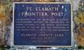 Image for Fort Klamath Frontier Post Historic Marker - Fort Klamath Park Museum