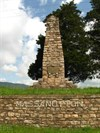 A monument to the first white settlers of the Massanutten region of the Shenandoah Valley in the 1720s was erected almost 200 years later.