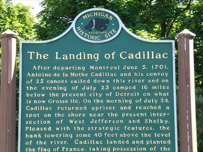 Woodward Avenue - Landing of Cadillac - Detroit, Michigan.