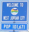 Image for West Jordan City ~ Population 101,671