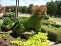 Image for Lion and cubs topiary garden (UAFS) -  Ft. Smith, AR