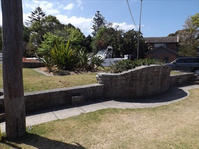 The raised area for the 'island' Garden.With the plaque for Bill Batt to the right.1333, Monday, 2 October, 2017
