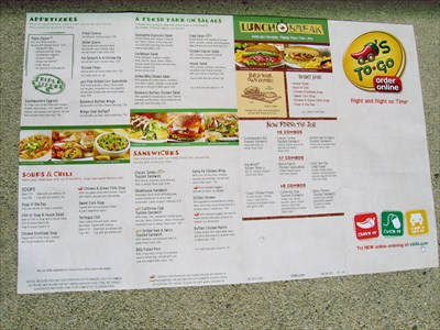 photograph relating to Printable Chili's Menu titled CHILIS toward Shift - Takeout / Transport Menus upon