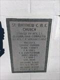 Image for 1952 - St. Matthew C.M.E. Church - Leesville SC