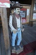 Image for Bonnie Springs Ranch Wooden Cowboy