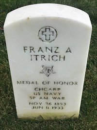 Franz Anton Itrich, Front, San Francisco National Cemetery