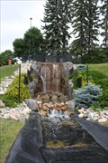 Image for Man-Made Waterfall -- Minot Scandinavian Heritage Park, Minot ND