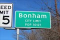 Image for Bonham, TX - Population 10127