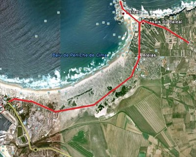 Ciclovia PenicheBaleal Portugal Cycling Routes On Waymarkingcom - Portugal map baleal
