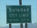 Image for Soledad, California ~ Elevation 190 ft.