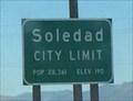 Image for Soledad, California ~ Elevation 190 ft.