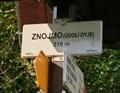 Image for Elevation Sign - Znojmo(údolí Dyje).218m