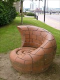 Image for Fossil Shell Seat - Cardiff Bay - Wales.