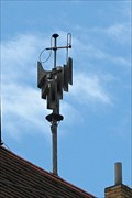 Image for Outdoor warning siren on a Prague, Holešovice districkt, Czech republic