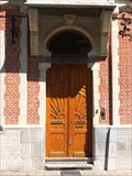 Image for Doorway at city house in Lombaardstraat 17, Hasselt, Limburg / Belgium