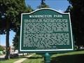 Image for Washington Park Historical Marker - Mankato, MN