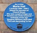Image for Marie Hall, Great Malvern, Worcestershire, England