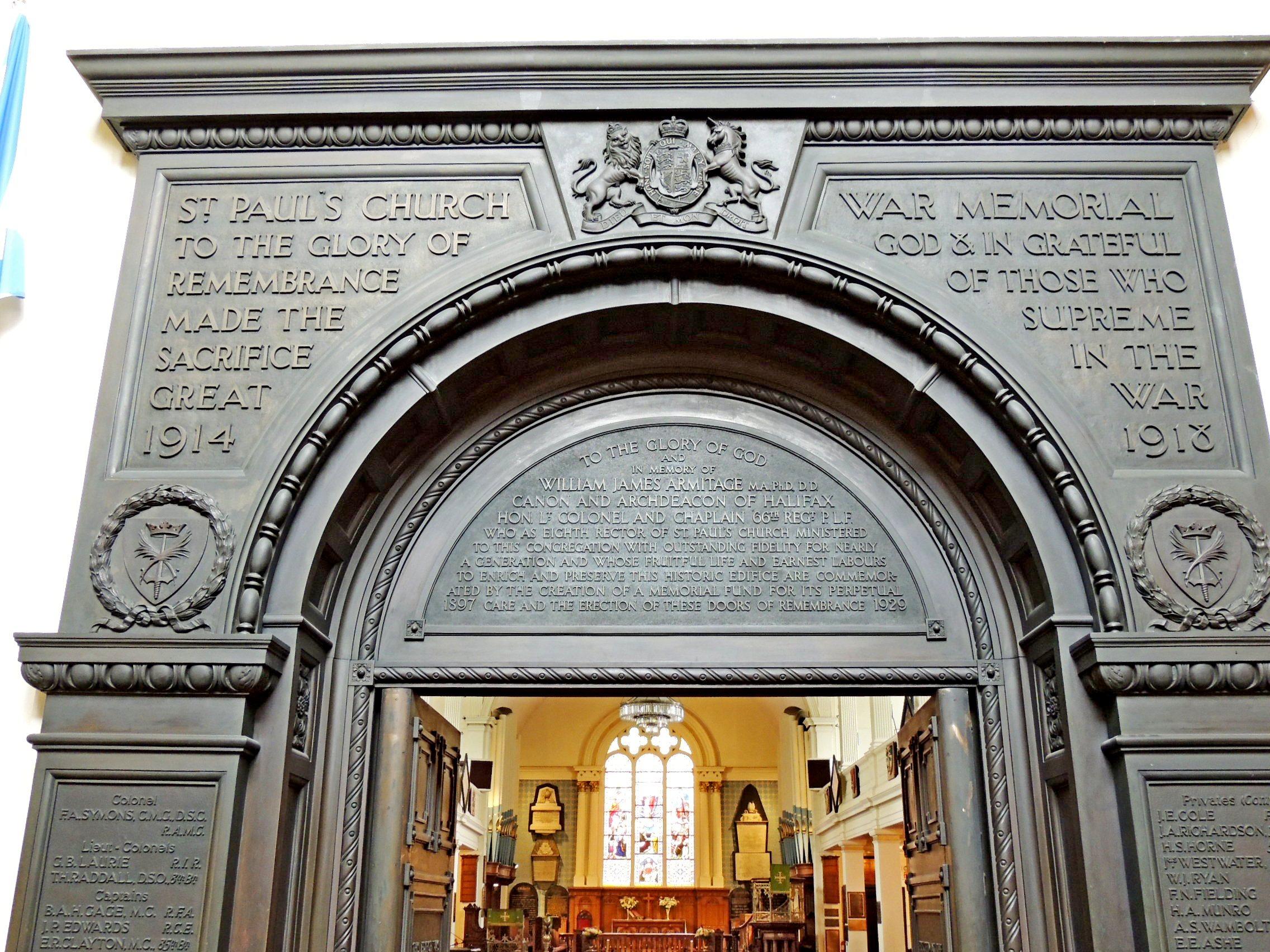 St. Paul's Anglican Church Memorial Door - Halifax, NS ...