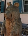 Image for Wooden Bear at Restaurant Crusch Alva - Bergün, GR, Switzerland
