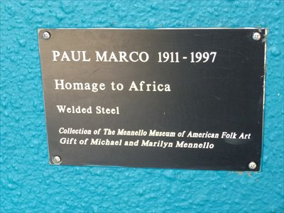 Homage to Africa - Menello Museum of American Art, Orlando, Florida.