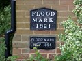 Image for MOLESEY LOCK FLOOD LEVEL PLAQUE, HAMPTON COURT, SURREY, UK