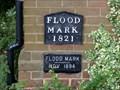 Image for MOLESEY LOCK FLOOD LEVEL PLAQUE, HAMPTON COURT, SURREY, UK
