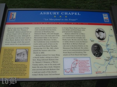 Asbury Chapel *** ``1st Maryland to the Front!``