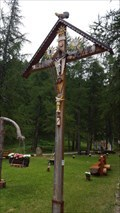 Image for Wooden Cross in the Park - Saas-Almagell, VS, Switzerland