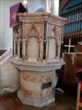 Image for Marble Pulpit - St Davids Church - Merthyr Tydfil, Wales, Great Britain.