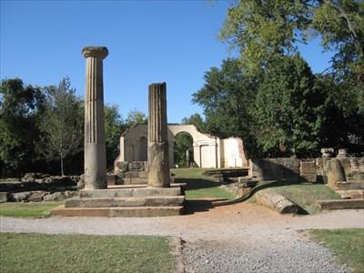 Front columns.