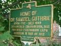 Image for HOME OF DR SAMUEL GUTHRIE