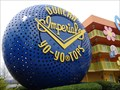 Image for Giant Yo-Yos - Satellite Oddity - Pop Century Resort, Lake Buena Vista, Florida, USA.