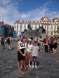 Our children on the old town square