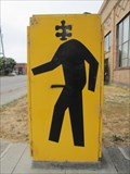 Image for Man with Puzzle Piece Head - Emeryville, CA