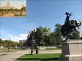 Image for State Capitol of Denver, Colorado Showing Bronco Buster and Indian Monuments - Denver, CO