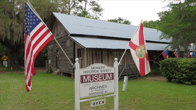 veritas vita visited Micanopy Historical Society Museum