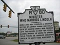 Image for Minister Who Married Lincoln